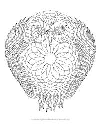 Small Picture Owl Dreamcatcher Coloring Page from Coloring Dream Mandalas by