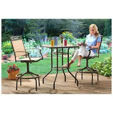 counter height patio furniture small. Patio Sets For Small Patios Best Furniture Balcony Counter Height With Swivel Chairs And Table Garden C