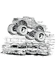 Grave Digger Monster Truck Coloring Pages Monster Trucks Coloring