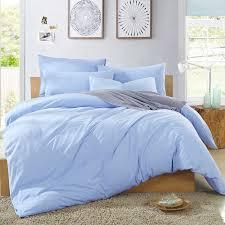 pale blue comforter set cotton knit pure color light duvet cover sets 10
