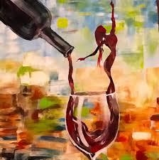 lady in wine