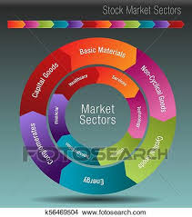 Stock Market Sectors Chart Clipart K56469504 Fotosearch