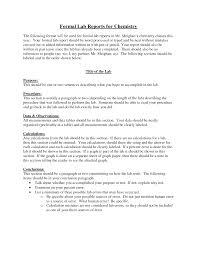 Chemistry Formal Lab Report Format Challenge Iii Lab Report Lab
