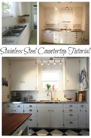remodelaholic affordable stainless steel countertops diy pertaining to how make a countertop remodel 26