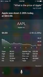 Siri Stock Quote