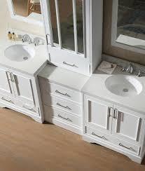 ariel stafford double sink vanity set in white w center