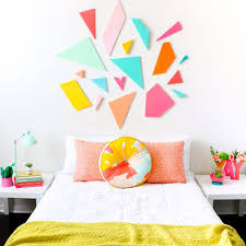 best diy room decor ideas for teens and teenagers colorful geometric headboard best cool