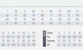 Hockey Skate Conversion Chart 61 Explanatory Ice Hockey Skate Size Chart