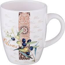 <b>Кружка Agness</b> Оливки, 358-1339, разноцветный, 300 мл ...