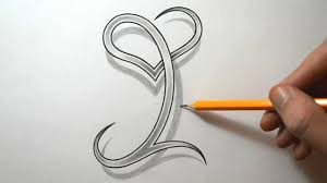 Letter Design I Drawing The Letter I With A Heart Combined
