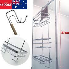 3 tier bathroom accessories shower caddy hooks rack chrome bath