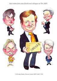 retirement gift caricature for abpi paul raymonde