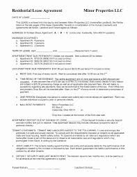 Apartment Lease Agreement Free Printable Beautiful Best S Of