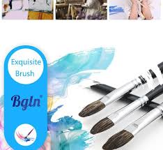 pincel con pintura. 12pcs/set mixed size cow ear hair oil paint acrylic painting brush pincel para pintura con