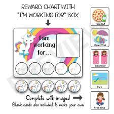 Rainbow Unicorn Reward Charts Positive Reinforcement Strategy