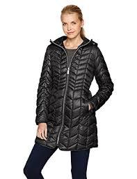 Amazon.com: Kenneth Cole Women's Hooded Chevron Quilted ... & Kenneth Cole Women's Hooded Chevron Quilted Lightweight Puffer Coat with  Chunky Zipper, Black, ... Adamdwight.com