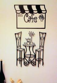 astounding design cafe wall art layout minimalist metal sculptures bistro table history scene decor pictures inspirations cafe wall art