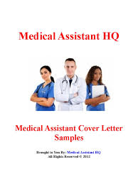 Cover Letter Cover Letter Examples For Medical Assistant Cover
