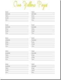 Printable Telephone List Download Them Or Print