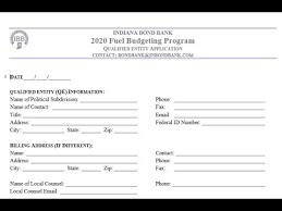 Budgeting Tools 2020 Indiana Bond Bank Fuel Budgeting Program
