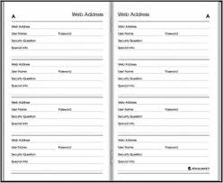 At A Glance Website Address Book Password Keeper Monthly