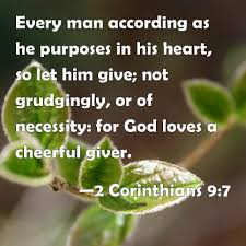 Image result for 2 Corinthians 9:7
