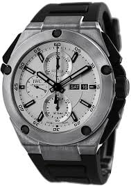 watches best price iwc ingenieur double chronograph silver dial iwc ingenieur double chronograph silver dial rubber strap automatic mens watch iw386501