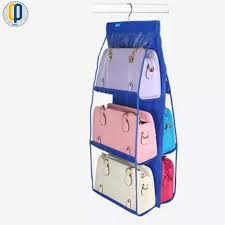philippines handbag bag storage holder 6 pockets hanging shelf hanger purse rack organizer