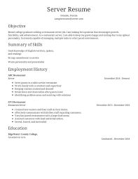 resume sample for restaurant server 10 restaurant server resumes examples payment format