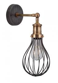 sconces wall lighting. Orlando Vintage Balloon Cage Retro Sconce Wall Light In Dark Pewter By Industville Sconces Lighting ,