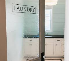 laundry room with seeded glass door cottage clean doors frosted 8