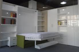 Contemporary Bedroom Bench Queen King White High Gloss Modern Wall Bed Murphy With Sofa Cubtab