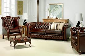chesterfield sofa style living room sofa brown easy to defeat coffe table painting elegant