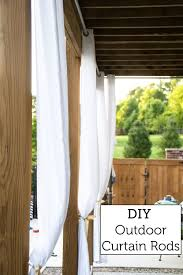 diy outdoor curtain rods construction