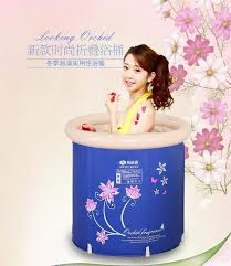 portable inflatable bath tubs cold proof plus size thickening 65 65cm folding tub shower bath