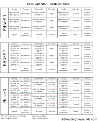 p90x workout schedule doubles below is what the custom calendars look like so if you would like