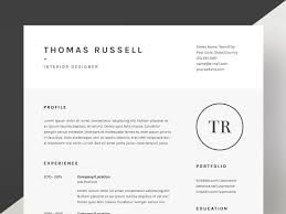 Thomas Russell Resume Cv Template Resume Templates Creative