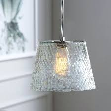 west elm lighting the mosaic glass pendant from west elm features a striking mix of glass