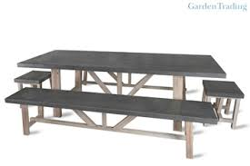 outdoor table bench set. garden trading chilson table and bench set outdoor