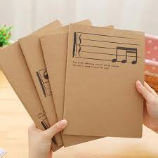 Music Writing Paper Us 3 82 10 Off Creative Professional Music Manuscript Paper Musical Notation Piano Exercise Book Staff Song Writing Notebook School Stationery In