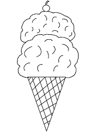 Small Picture Ice Cream Cone Coloring Page For Printable Pages glumme