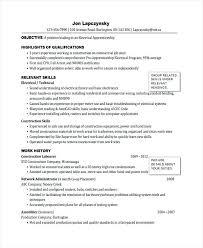 Apprentice Electrician Resume Sample From Meter Reader Cover Letter