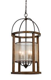 iron wood chandelier 4 lights 16 wx33 h