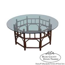 vintage bamboo rattan base round glass top coffee table round glass top coffee table from jcpenney beeftrust