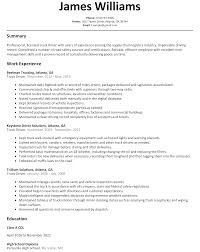 Truck Driver Resume Experience Resumes