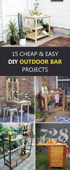 15 Cheap and Easy DIY Outdoor Bar projectsjpg