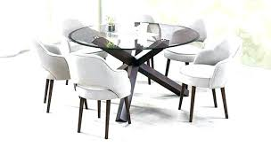 decoration six chair dining table round seats 6 chairs glass top set