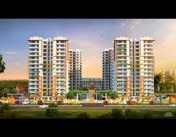 3d exterior apartment of township
