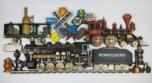 pennsylvania train plaque vintage large wall decor railroad sign conductor 3d 1 of 8 see more