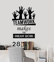 Inspirational office spaces Chic Wall Stickers Office Space Inspirational Words Team Work Motivational Quotes Homeoffice Decor Vinyl Wall Decal Art Decoration Wilkhahn Wall Stickers Office Space Inspirational Words Team Work